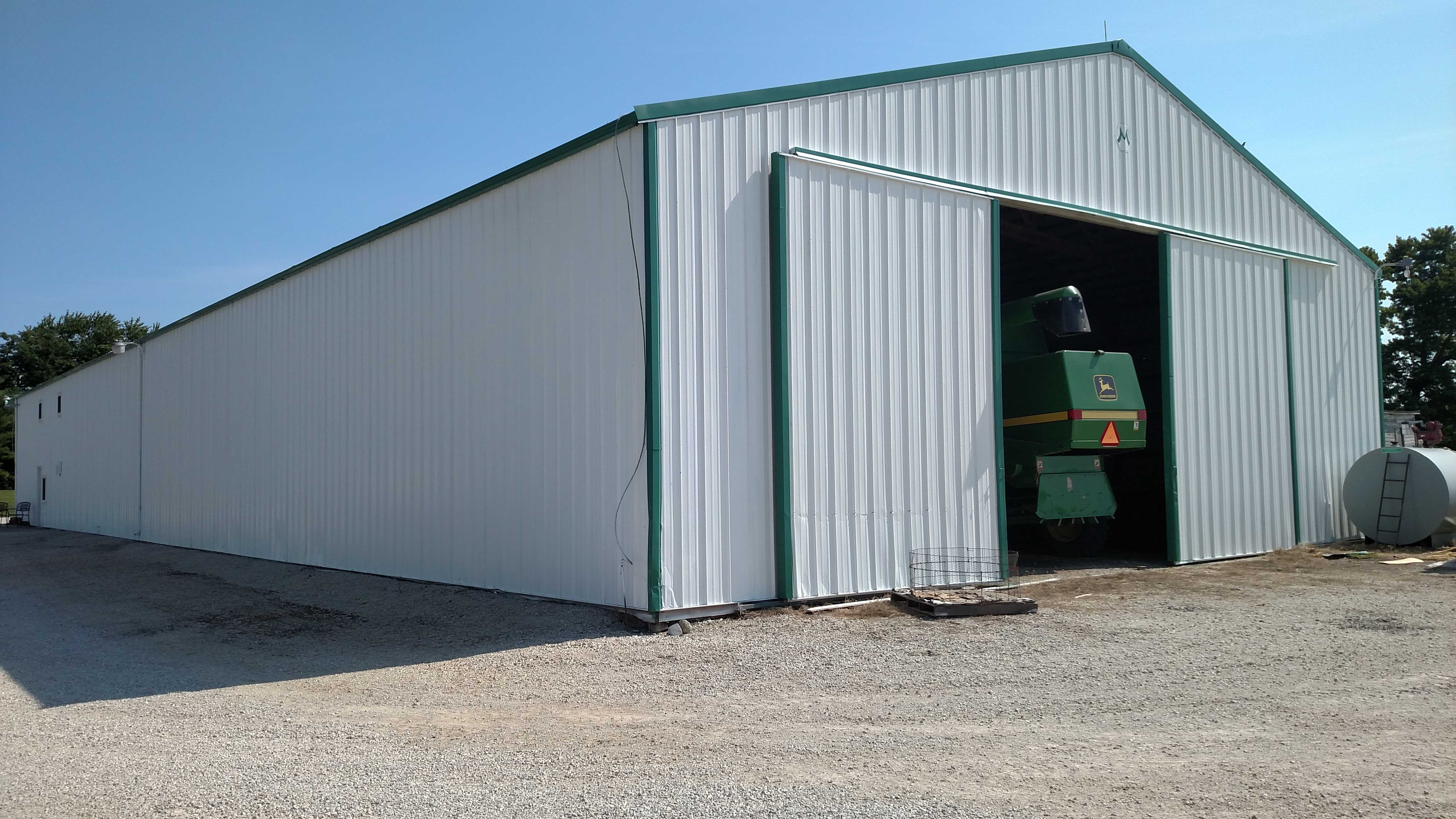 Machine shed repaint eco advantage painting for Equipment shed