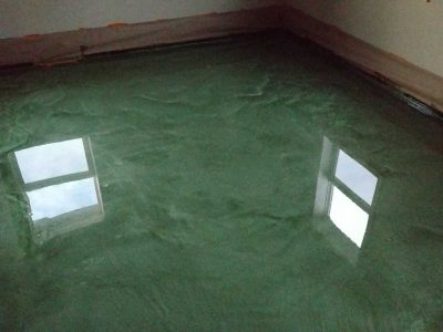 Green Metallic Epoxy Floor System 3